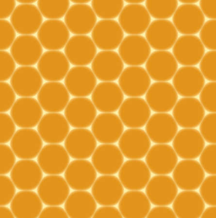 dark orange seamless pattern - honeycombs Vector