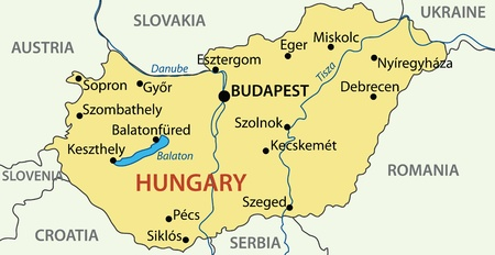 hungary: Hungary - vector map. Illustration