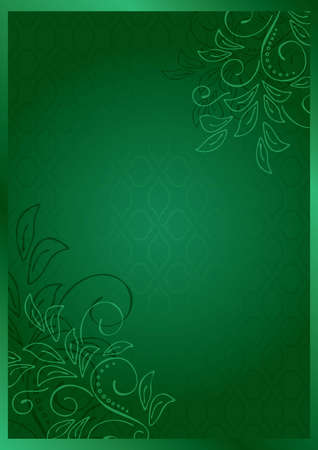 green vector floral card - eps 10 Vector
