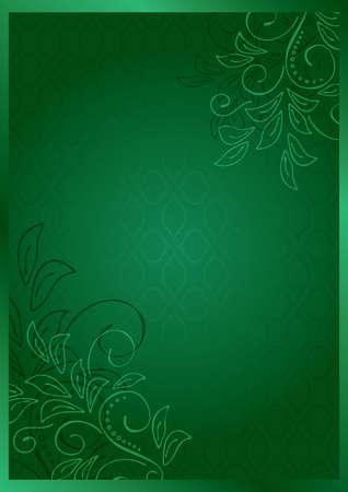 green vector floral card - eps 10 Stock Vector - 12491989