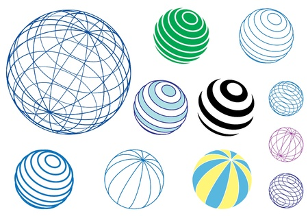 set of vector globes and balls Stock Vector - 12491978