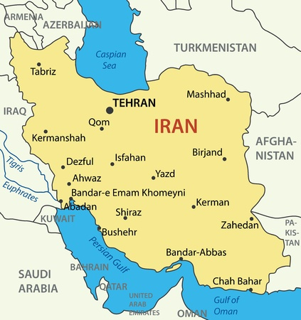 the gulf: Islamic Republic of Iran - vector map