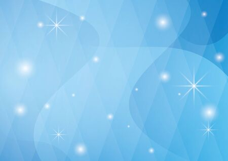 vector light blue background with wavy abstractions and stars - eps 10 Vector