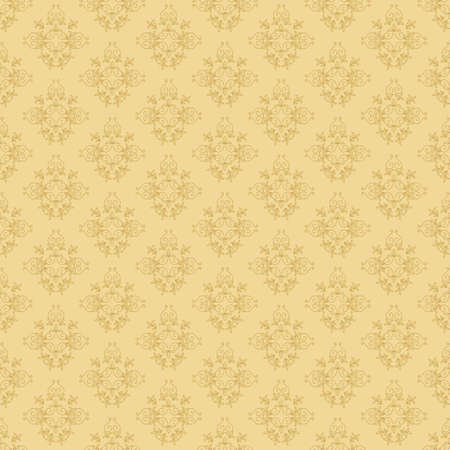 beige seamless vector floral  pattern Illustration