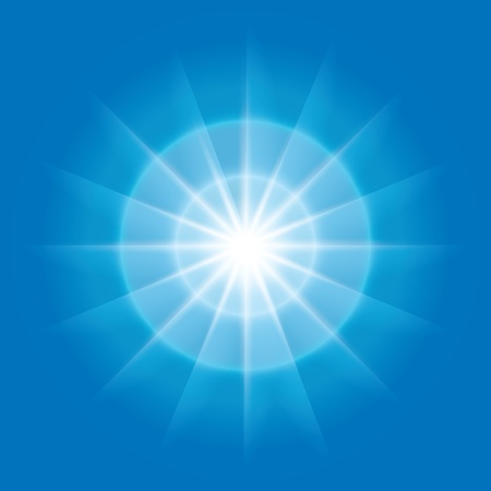 vector abstract radial element with rays on blue background Illustration