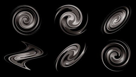 spiral vector: spiral galaxies as elements for design - vector set Illustration