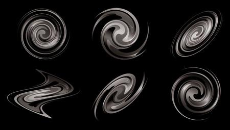 spiral vector: spiral galaxies as elements for design - vector set Illustration