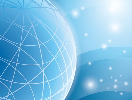 abstract light blue vector background with globe Vector