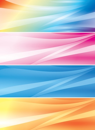 set of abstract color vector backgrounds (headers) Vector