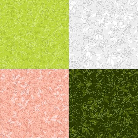 floral color vector backgrounds  Vector