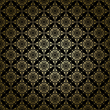 black vintage pattern with radial gradient Vector
