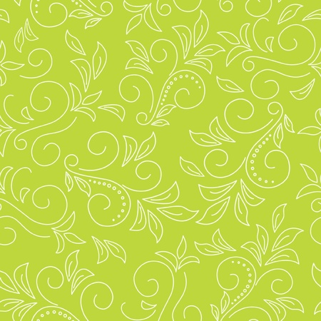 seamless light green pattern  with flora Vector