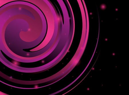 twirls: abstract ackground with violet spiral figure