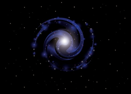 galactic center: background with spiral galaxy