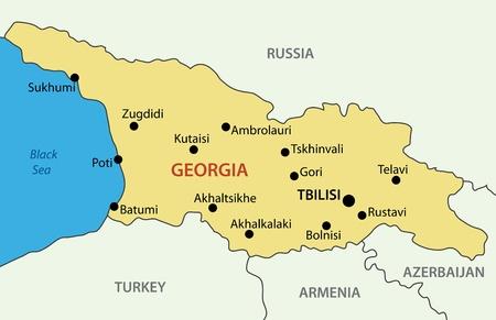 georgian: Georgia (country) - vector map Illustration