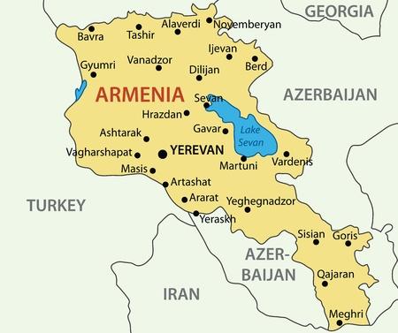 armenia: Republic of Armenia - vector map