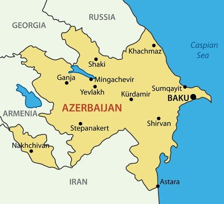 azerbaijani: Republic of Azerbaijan - vector map Illustration