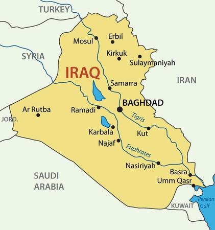 イラク共和国 - ベクトル マップ  イラスト・ベクター素材