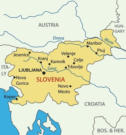 Republic of Slovenia - vector map Vector