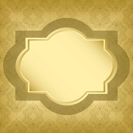 vector golden frame with golden texture  Vector