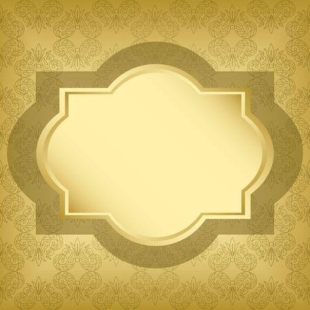 vector golden frame with golden texture Stock Vector - 13340747
