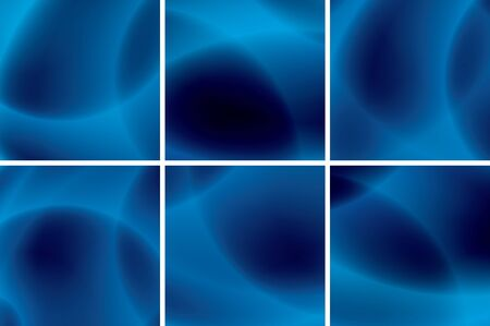 set of abstract blue neon backgrounds - vector Stock Vector - 13486704