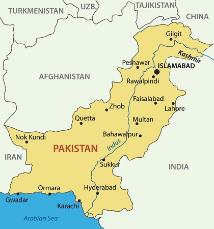 islamabad: Islamic Republic of Pakistan - vector map