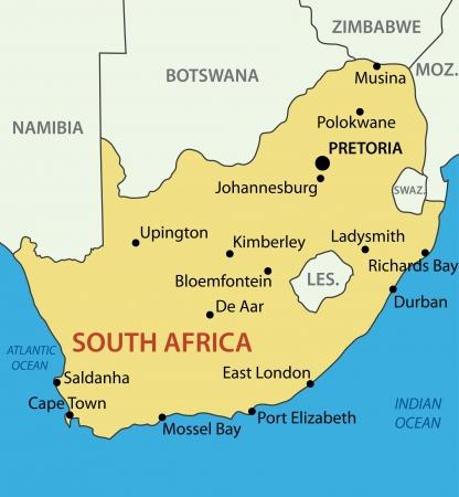 南アフリカ共和国 - ベクトル マップ