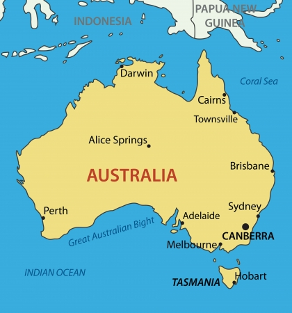 australia map: Commonwealth of Australia  Illustration