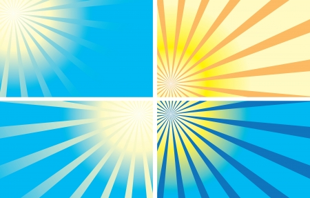 color backgrounds with rays  Vector