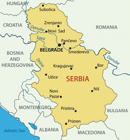 Republic of Serbia - vector map