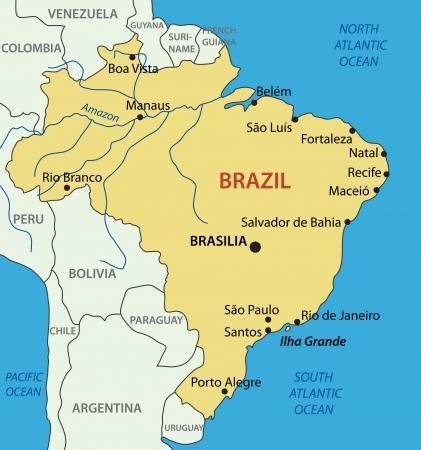 rio amazonas: República Federativa del Brasil Vectores