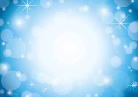 blue and white background with bokeh and stars - vector Stock Vector - 13935100