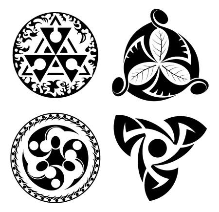 set of vector black design elements - logotypes Stock Vector - 13935083