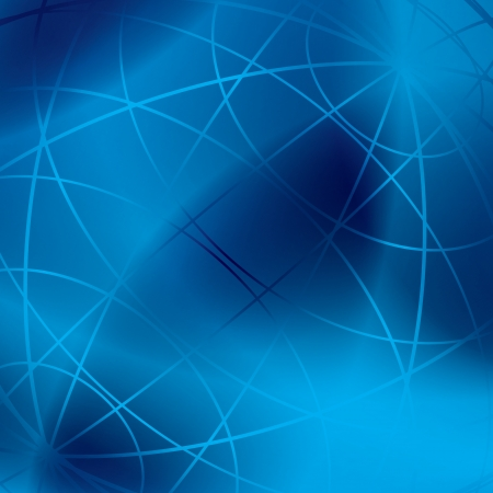 meridian: abstract blue background with shiny meridian lines