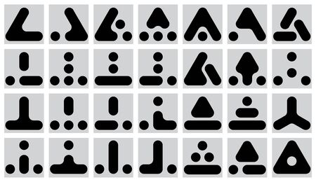 incomprehensible: set of  geometric marks