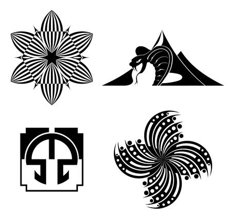 黒のデザイン要素 - グラフィック  イラスト・ベクター素材