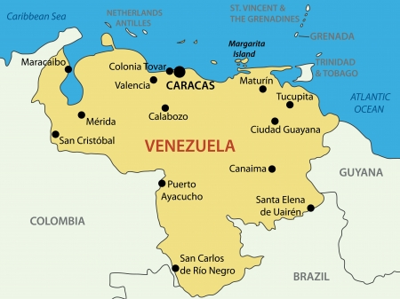 caracas: Bolivarian Republic of Venezuela - map  Source for map  http   www lonelyplanet com maps south-america venezuela  Illustration