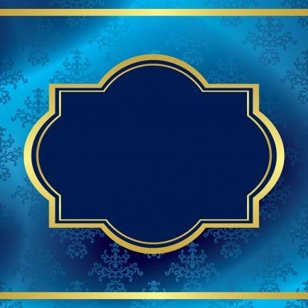 quadratic: fondo azul oscuro con marco de oro y el patr�n