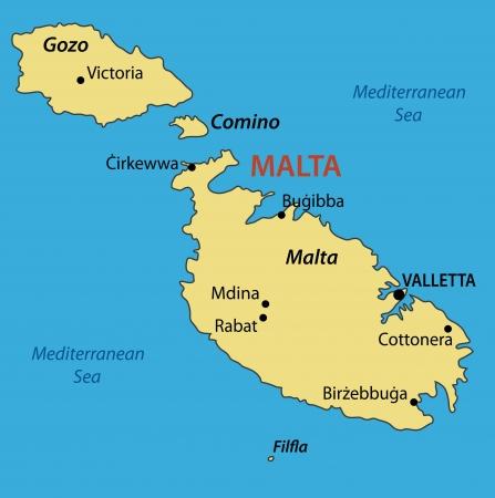 malta cities: Republic of Malta  Illustration