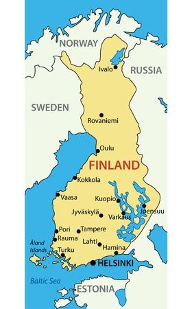 suomi: Republic of Finland - map