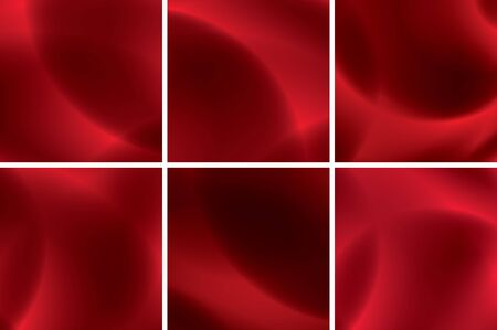set of abstract red neon backgrounds Vector