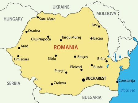 romania: Romania - vector map