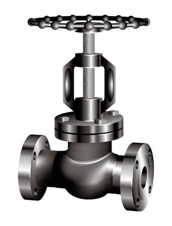 gray industrial valve - vector Vector