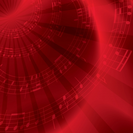 red background with notes - vector Stock Vector - 14416312