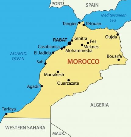 atlantic city: Kingdom of Morocco - vector map