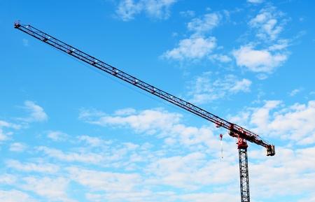 jib: building crane and blue sky