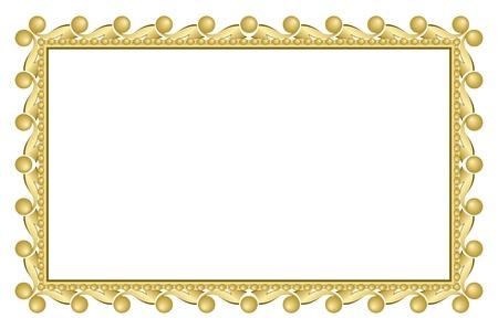 gold elegant frame