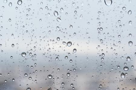 raindrops on a windowpane