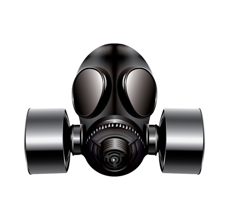 gas mask: gas mask on white background - vector